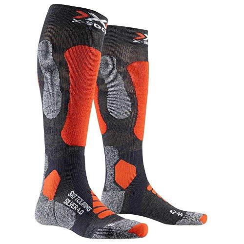 X-Socks Touring Silver 4.0, Calze Invernali da Sci Unisex – Adulto, Anthracite Melange/Orange...