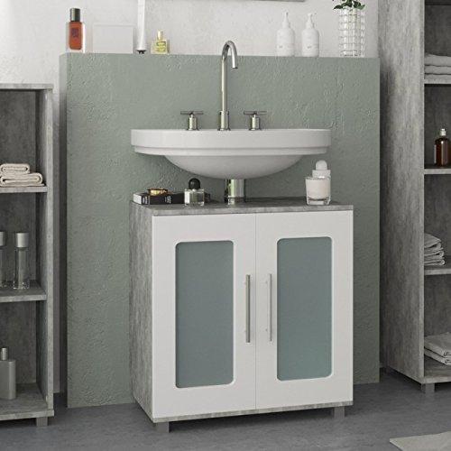 Animalmarketonline mobiele wastafel rack RAYK 60 cm grijs beton