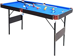 IFOYO Billiard Table, 55 Inch Folding Pool Table Steady Modern Space Saving Billiard Table Game for Kids and Adults with Cues, Ball, Chalk, Rack, Brush Included