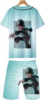 Ga-yinuo Boys Pyjamas Mens T Shirt Shorts Short Sleeves Pyjamas Set Mens Shorts Sportswear Casual Beachwear Beach Shorts U...