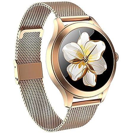 Smartwatch para Mujer MyTECH K1 Pro Reloj Inteligente para Mujer, Elegante Smart Watch Oxímetro, frecuencia Cardiaca, presión Arterial, Resistente al Agua, Compatible con Android y iOS