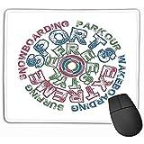 Alfombrilla de ratón Deportes Extremos Tipografía Impresión Elegante Ropa de Vestir Alfombrilla de ratón Rectangular Original Alfombrilla de ratón para Juegos Alfombrilla de ratón Alfombrilla