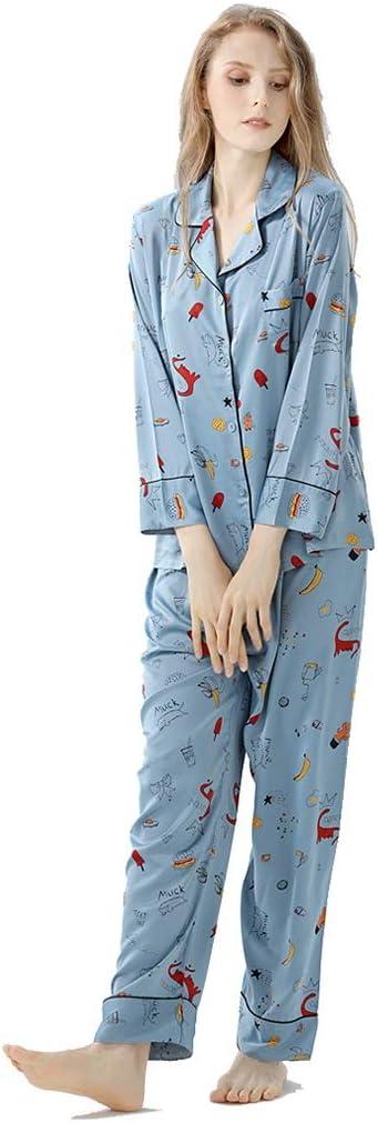 Pijamas Pijamas de Manga Larga Estilo otoño Mujer Pijama ...