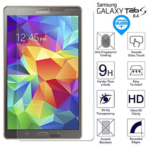 BisLinks® Für Samsung Galaxy Tab S 8.4 Temperiert Glas Bildschirm 9H Protector Film T700 T705