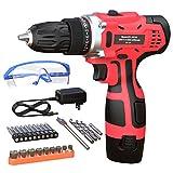 GardenJoy 12V Max Power Cordless Drill Electric...