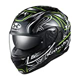 OGKカブト カムイ3 KAMUI3 ジャグ JAG ブラックグリーン Lサイズ フルフェイスヘルメット