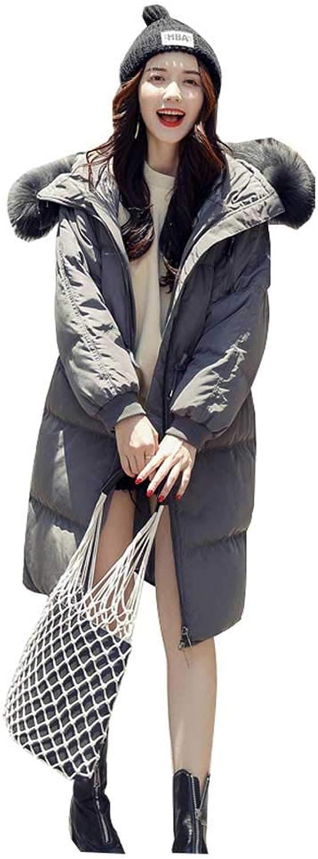 SXYTS Frauen-Winter-Abnutzungs-lose Lange Abschnitt-koreanische Version der starken Daunenjacke, stdtische Freizeitjacke
