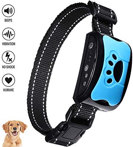 SutMsh Collar Antiladridos para Perros Pequeños Medianos y Grandes Collar Adiestramiento para Perros 7 Niveles de Sensibilidad Collares Recargable Impermeable Ajustables Collar Perro (Azul)