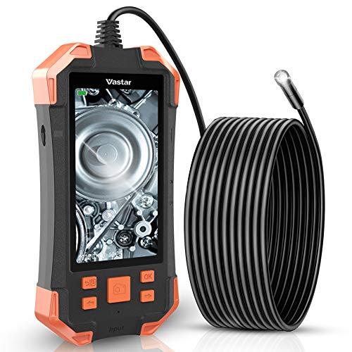 Vastar Cámara Endoscopio de Inspección Industrial, 4.3 Pulgadas IPS Monitor LCD en Color 1080P, 3000 mAh Cámara de Inspección 5.5mm IP67-5M sin Tarjeta