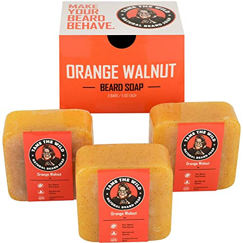 Tame's Orange Walnut Beard Soap - Works as a Natural Beard...