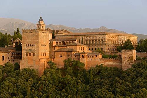 HCYEFG Rompecabezas Rompecabezas 1000 Piezas Palacio De La Alhambra, Granada, España Juguetes Educativos para Adultos Niños Juegos Infantiles