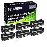 Paquete de 6 cartuchos de impresora láser MS810de MS810dn MS810dtn MS810n MS811dn MS811dtn MS811n (alta capacidad) de repuesto para Lexmark 52D2000