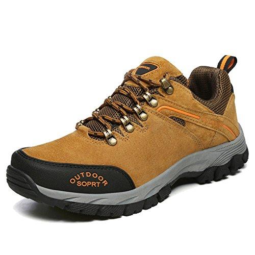 MERRYHE Plus Size Anti-Slip Mountain Shoe pour Hommes Trekking Randonnée Chaussures Sport Escalade Marche Nordique Chaussures Sneakers,Brown-47