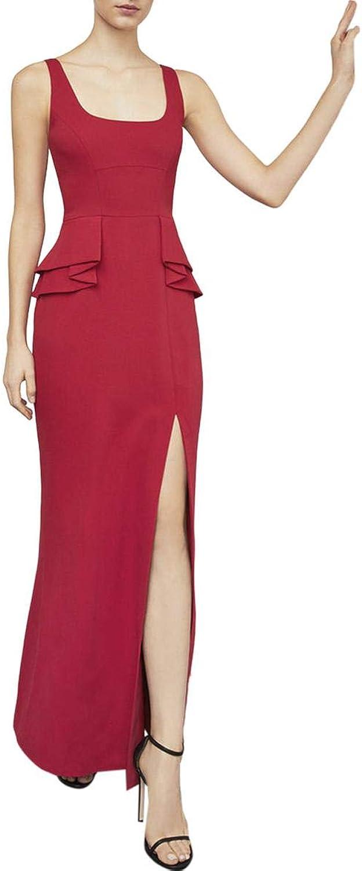 BCBG Max Azria Womens Ruffle Formal Evening Dress