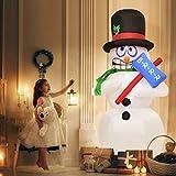 Tangkula 6' Inflatable Shivering Snowman LED Airblown Yard Holiday Decoration Snowman