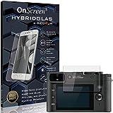 OnScreen Schutzfolie Panzerglas kompatibel mit Leica Q2 Monochrom Panzer-Glas-Folie = biegsames HYBRIDGLAS, Bildschirmschutzfolie, splitterfrei, MATT, Anti-Reflex - entspiegelnd
