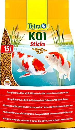 Tetra Pond Koi Sticks, Complete Fish Food for All Koi Fish, 15 Litre