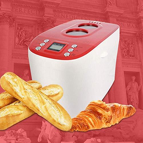 Estantería compacta máquina de pan rápido Breadmaker completamente automática táctil LCD de tres colores quemados 15 Menús Tiempo de la cita conveniente for el hogar Cocina, gris panificadoras de pan