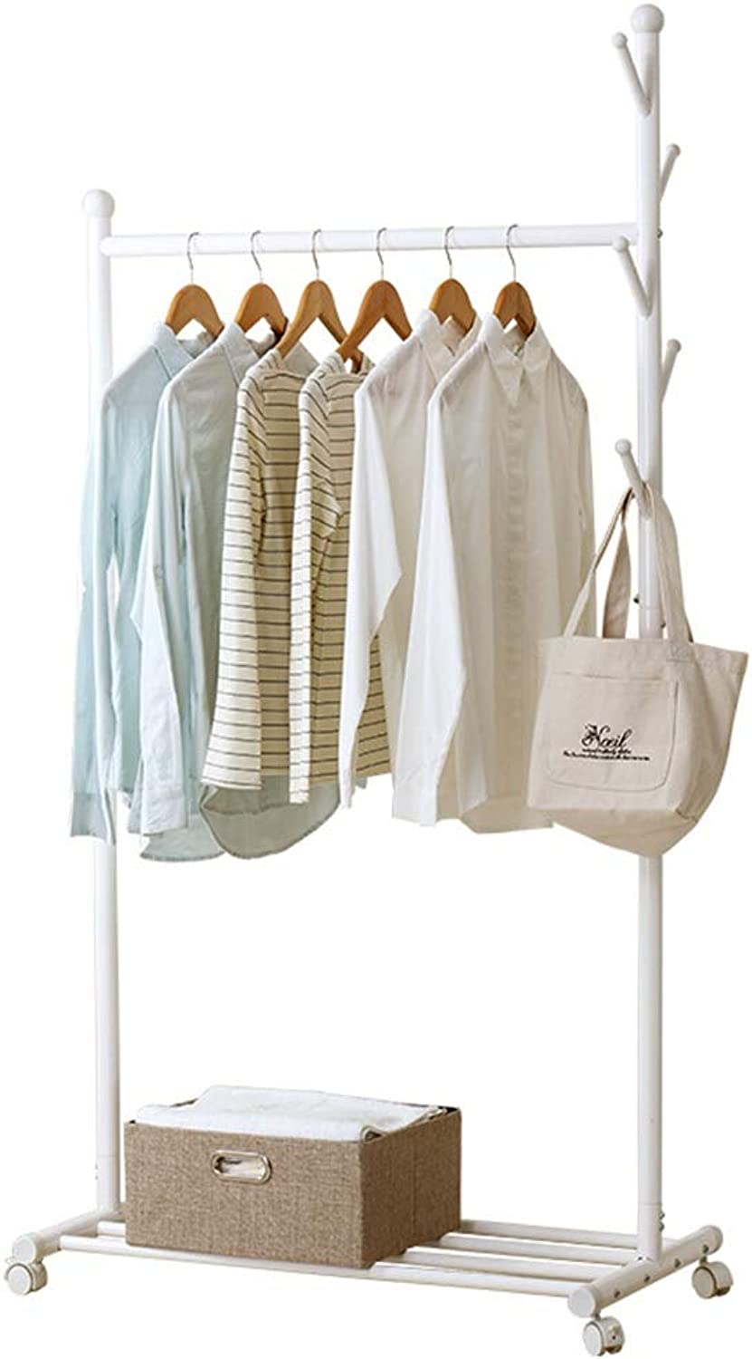 XIAOLONG Standing Coat Racks wooden free to move white Hall Trees Coat Rack Stand shoe rack Hooks Clothes Stand Tree Stylish Wooden Hat Coat Rail Stand Rack Clothes Jacket Storage Hanger Organiser -45