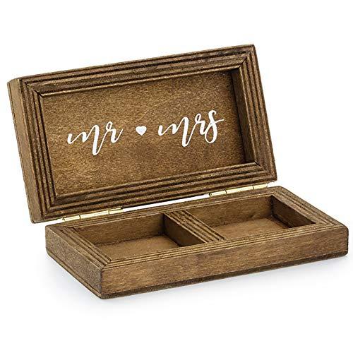 HausderHerzen Ringebox aus Holz für Hochzeits-Ringe. Eheringbox für die Hochzeit.
