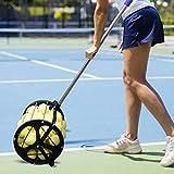PurplePassion Tennis Ball Collector Pickup Ball 55Balls Capaticy | Tennis Ball Hopper | Tennis Ball Pickup Hopper | Tennis Ball Picker | Tennis Equipment | Tennis Ball Machine | Tennis Ball Roller