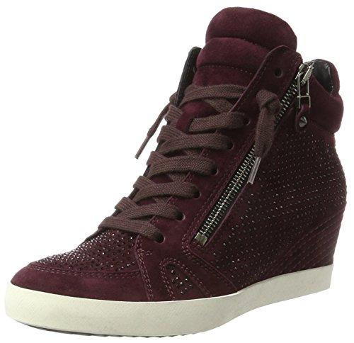 Kennel und Schmenger Kennel und Schmenger Damen Soho Hohe Sneaker, Rot (Amarone/Black Sohle Weiss), 40 EU