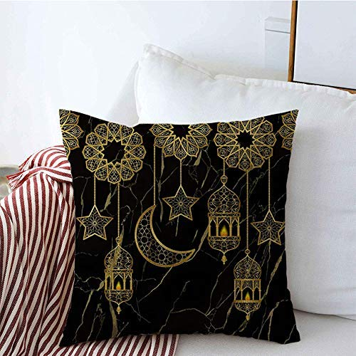 Suo Long Taie d'oreiller Fire Half Greeting Arabian Backgrop Aladha Moon Textures avec Seamless Graphic Star Covers Textile Housse de Coussin