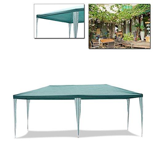 HGGazebo Tenda da giardino, gazebo 3 x 6 m, tendone impermeabile, tenda con tubi in acciaio resistente di alta qualità, tendone da giardino