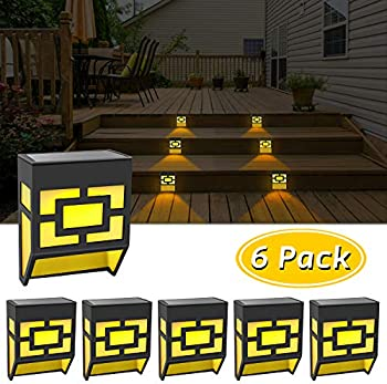 6-Pack Eauoh Outdoor Decorative Waterproof LED Solar Deck Lights