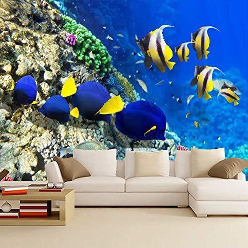 3d wandbild Benutzerdefinierte Unterwasserwelt Wandbild Baby-Schwimmhalle Kinderzimmer Ocean Style Theme Swimming Pool Wallpaper Wallpaper(350x245cm)