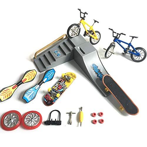 Finger Skate,mini Skate,Skate Park Kit Finger Toys Set Avec Des Parcs De Rampes Pour Finger Sports