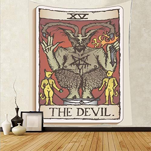 Tapiz personalizado mini tarjeta de tarot tapiz abstracto colgante de pared psicodélico alfombra de pared telón de fondo tela a5 73x95 cm