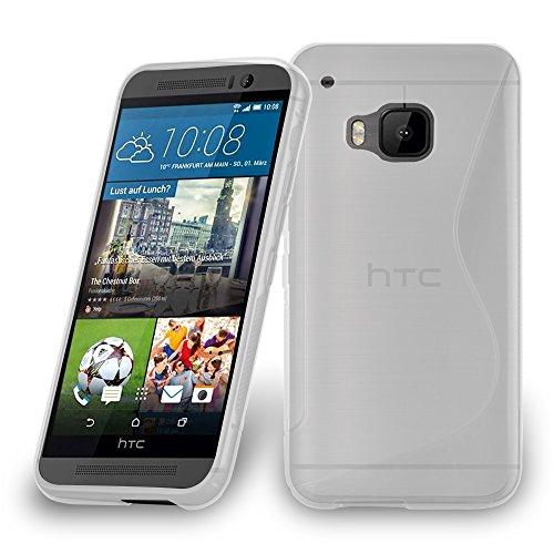 Cadorabo Hülle für HTC ONE M9 Plus/ONE ME - Hülle in HALB TRANSPARENT – Handyhülle aus flexiblem TPU Silikon im S-Line Design - Silikonhülle Schutzhülle Soft Back Cover Case Bumper