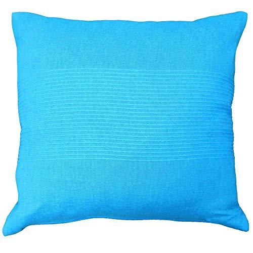 douceur d'intérieur housse de coussin 40x40 cm coton lana turquoise