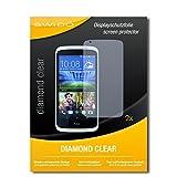 SWIDO 2 x Bildschirmschutzfolie HTC Desire 526G Dual SIM Schutzfolie Folie DiamondClear unsichtbar
