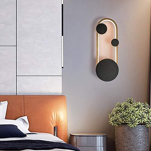 DC Wesley LED-Hintergrund, skandinavisch, modern, schlicht, kreativ, Wand/Wand/Nachttisch, einzelne Farbe, Lichtquelle 13,5 x 40 cm