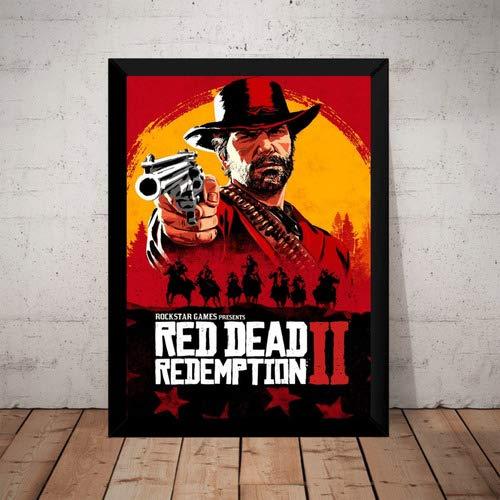 Quadro Game Red Dead Redemption 2 Arte Poster Com Moldura