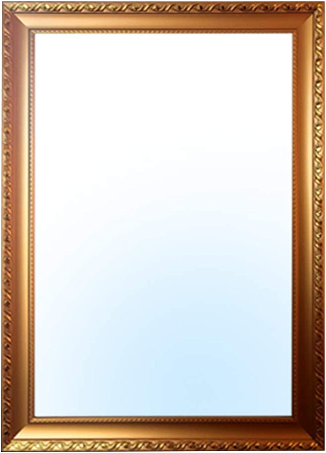 YANZHEN Mirror Wall Mirror European Style Paste Bathroom There Borders Dressing Table Makeup Mirror Wall Mount Plastic, 4 color 4 Size