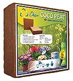 Chavi 5kg (70L) Turba de Coco Lavado 100% orgánico Ladrillo/Bloque de Coco para Fines agrícolas de Interior/Exterior
