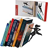sujeta libros  'Supergal'   Sujetalibros de superheroína metálico en color negro   Sujetalibros únicos   Regalos para mujeres   Regalos para lectoras   Tope para libros original