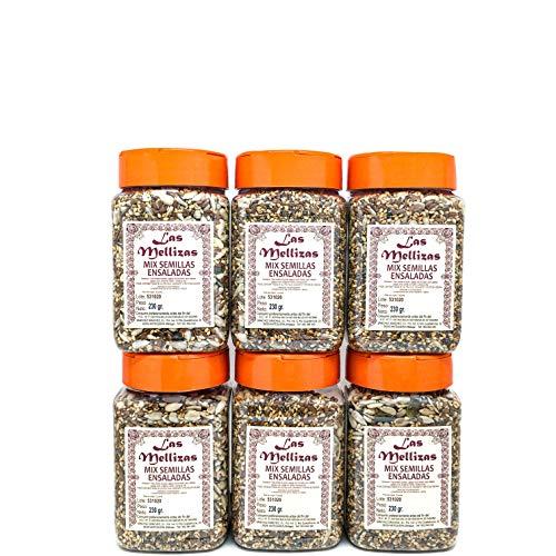 Las Mellizas Pack Mix de Semillas 4 unidades  Compuesto por pipas de girasol peladas, sésamo natural tostado, pipas de calabaza verde peladas, semilla de lino marrón y semilla de chía (4)