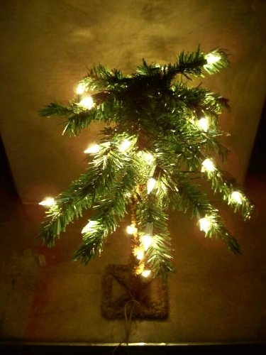 """18"""" Lighted Palm Tree Artificial 35 Lights Electric Table top"""