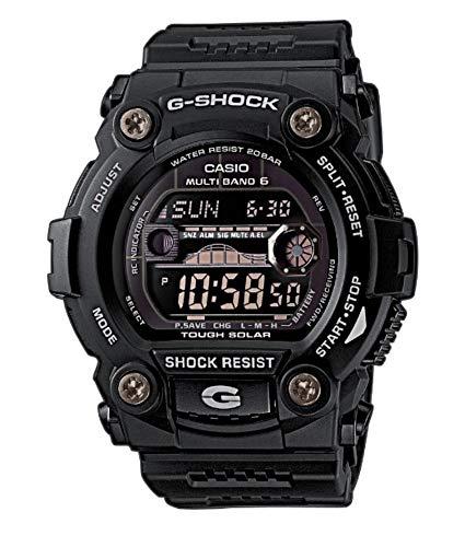 Casio G-SHOCK Orologio 20 BAR, Nero, con Ricezione Segnale Radio e Funzione Solare, Digitale, Uomo, GW-7900B-1ER
