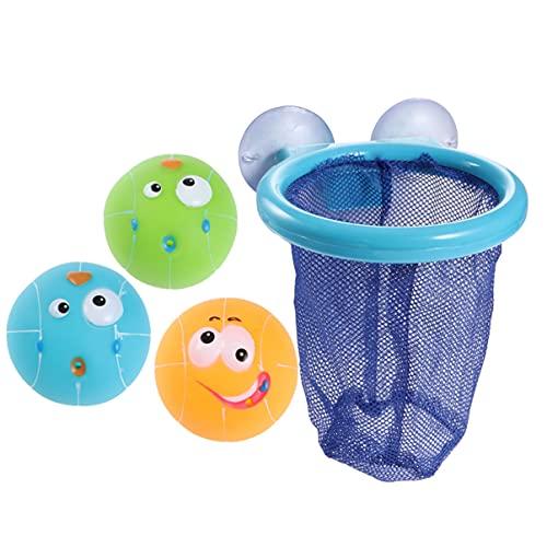 VILLCASE Baby Bad Spielzeug Spaß Basketball Hoop Balls Set Badewanne Schießen Spiel Saugnapf Basketball Hoop für Jungen Mädchen Kind Kleinkind
