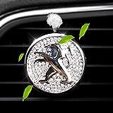 VILLSION 車のロゴ車用消臭ディフューザー 車用空気アロマセラピーアロマディフューザー 車用ベントパフュームプジョー