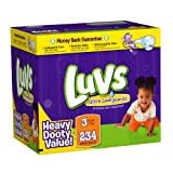 Luvs Premium Stretch Diapers with Ultra Leakguards Diapers, Size 3, 234 Count
