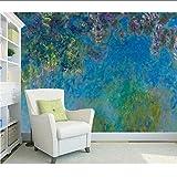 Dalxsh Kundenspezifische Tapete, Glyzinien Von Monet Fototapete Für Wohnzimmerschlafzimmersofahintergrund-Wandhauptdekoration-250X175Cm