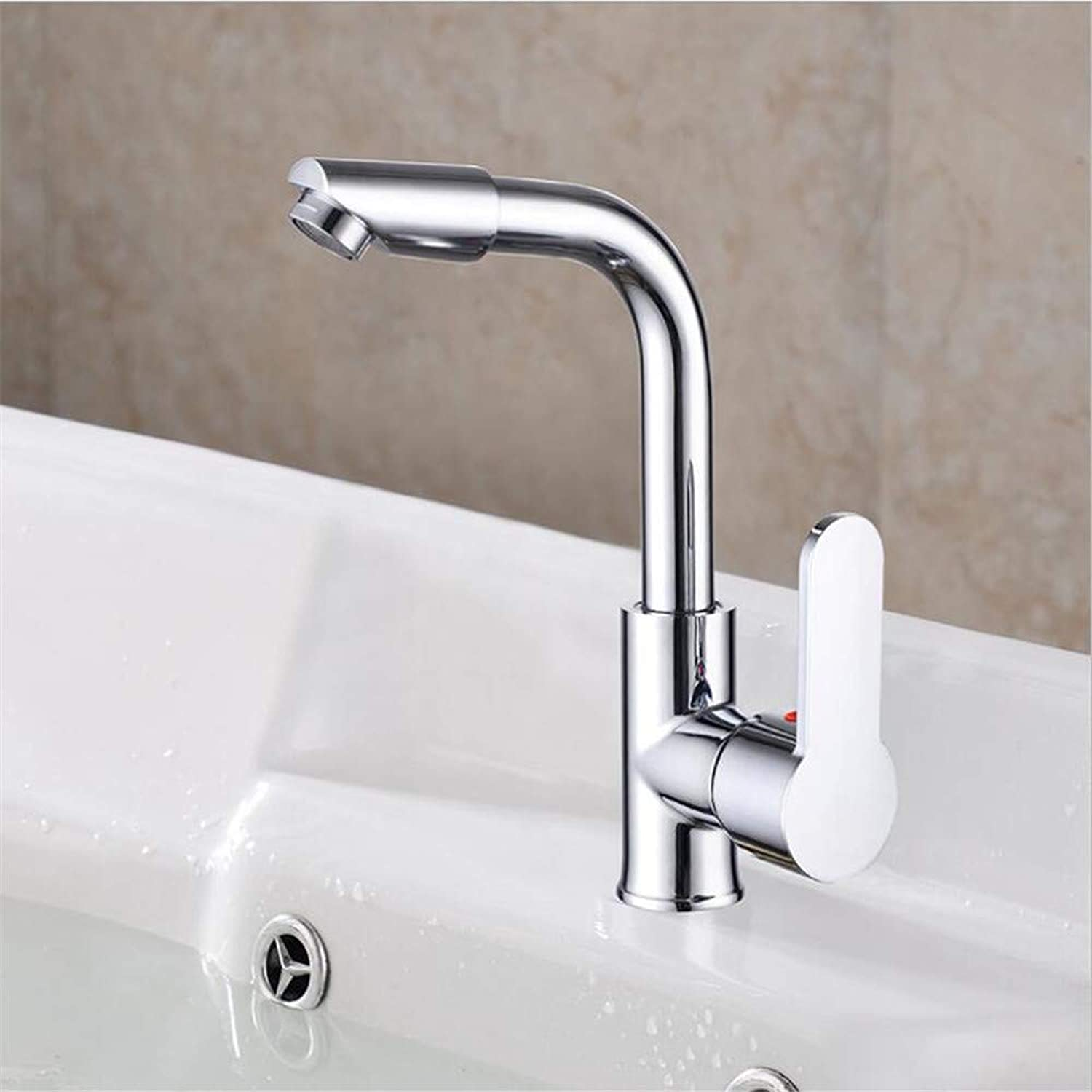 Basin Mixer Tap ?Copper Core Flat Three-Way Basin Bathroom Cabinet Faucet Hot and Cold Sink redating Faucet