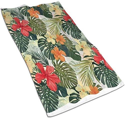 hotmoment-uk Handtuch aus Polyester/Baumwolle für Hotel Spa Bad Gym Atmungsaktiv stark saugfähig Handtuch mit Ananas-Piktogramm dekorativ einseitig Bedruckt, 69,8 x 39,9 cm