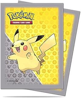 Ultra Pro Trading Card Supplies Deck Protectors - Pikachu (Gray Border) (65 Pack), Yellow/Grey